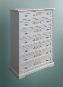 cassettiera decorata