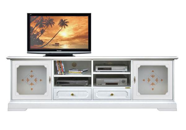 Mobile porta tv con vetri decorati