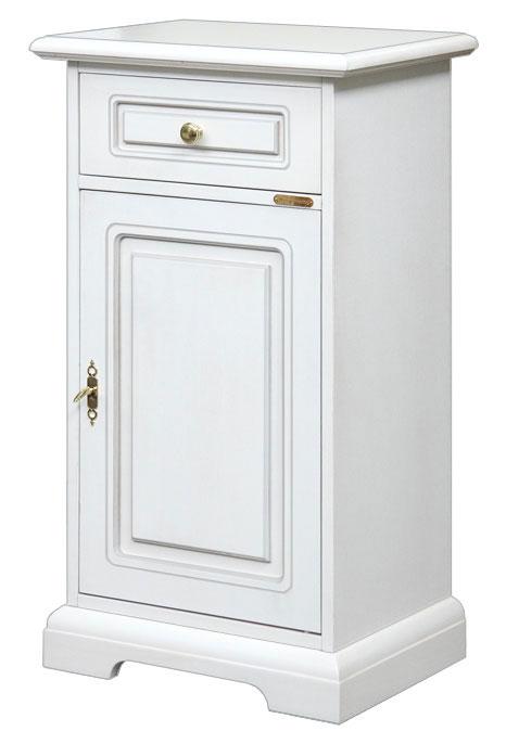 Mobiletto multiuso in legno mobile bianco per ingresso - Mobiletto per telefono ikea ...