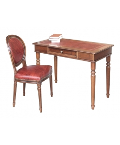 Scrittoio e sedia in vera pelle in stile impero