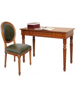 Scrittoio e sedia in vera pelle per ufficio o studio