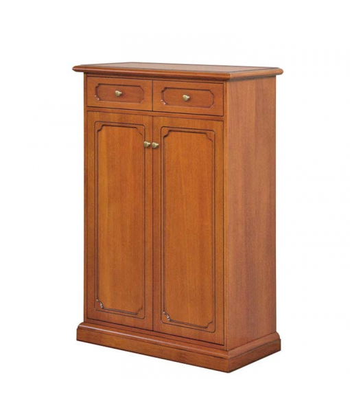 Scarpiera in legno 5 ripiani regolabili, 2 ante 1 cassetto coll.Tilly, Art. 120-SC