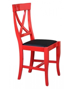 sedia laccata rosso