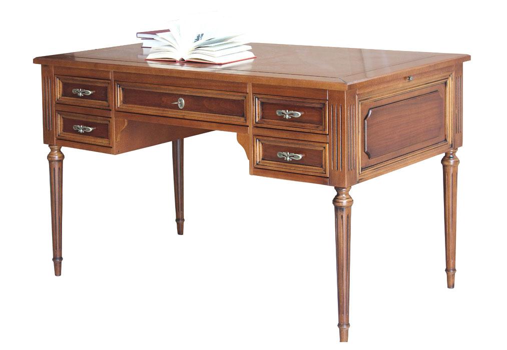 Scrivania per ufficio studio scrittoio in legno for Scrivania per studio