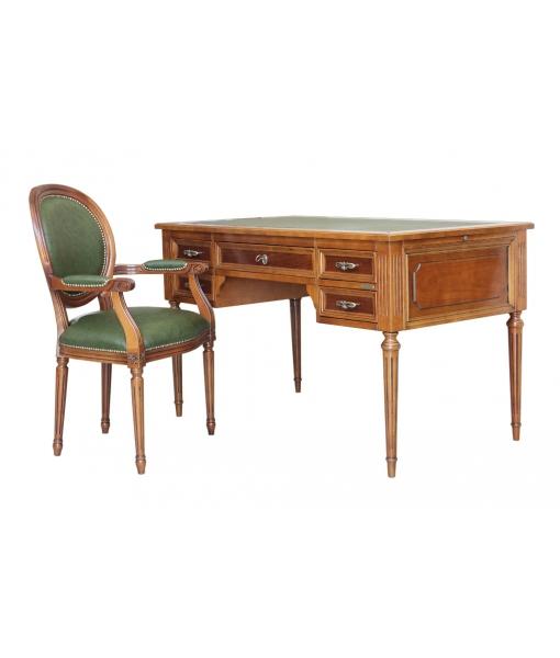 Scrivania luigi xvi e sedia arteferretto for Sedia design scrivania