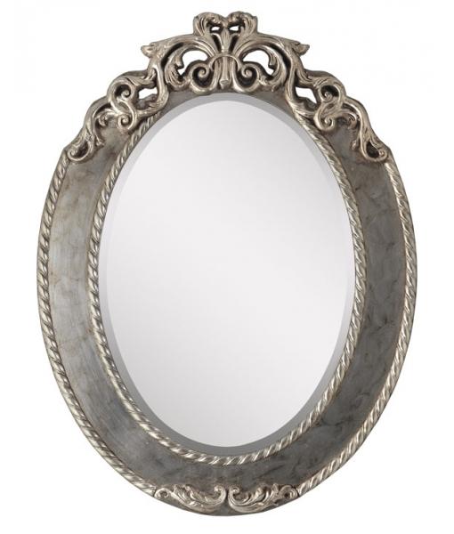 Specchiera ovale foglia oro o argento, Art. AA-1590