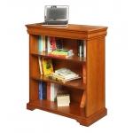 Libreria bassa stile Luigi Filippo in legno con ripiani regolabili