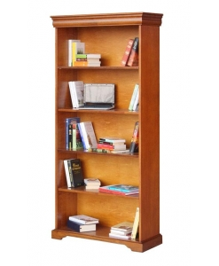 Libreria alta stile Luigi Filippo con vani a giorno