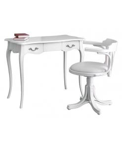 scrittoio con sedia, sedia con ecopelle, sedia girevole, scrittoio classico, scrittoio