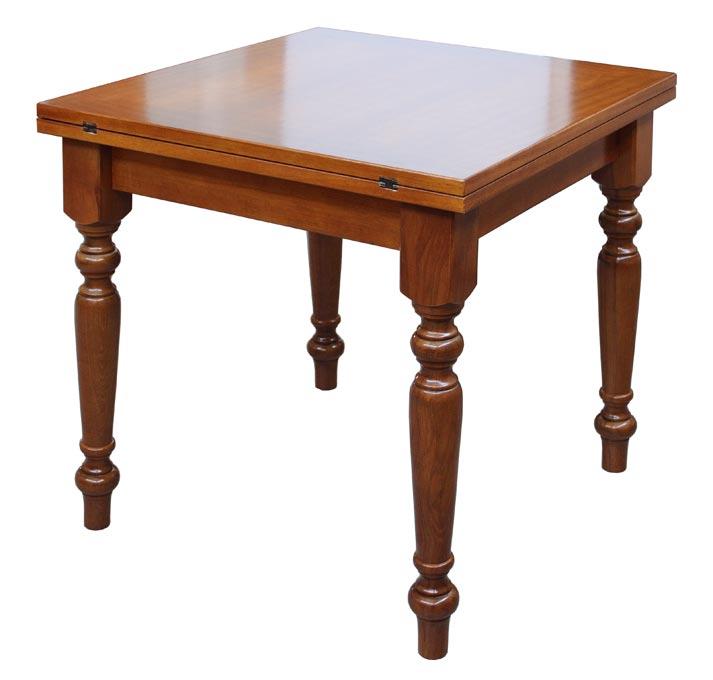 Tavolo quadrato apertura a libro in legno ciliegio prodotto artigianale italiano ebay - Tavolo quadrato legno ...