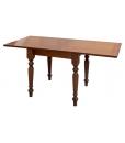 Tavolo in legno da pranzo aperto 160 x 80 cm, con gambe tornite
