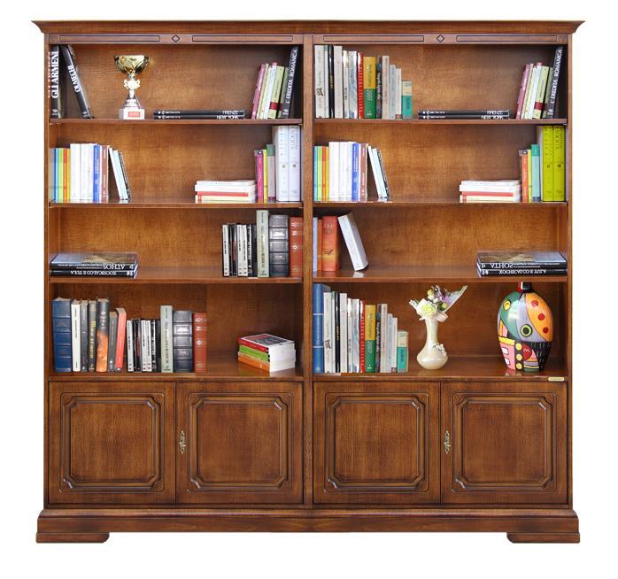 Libreria a parete in legno libreria classica 2 metri ebay - Mobili libreria classica ...