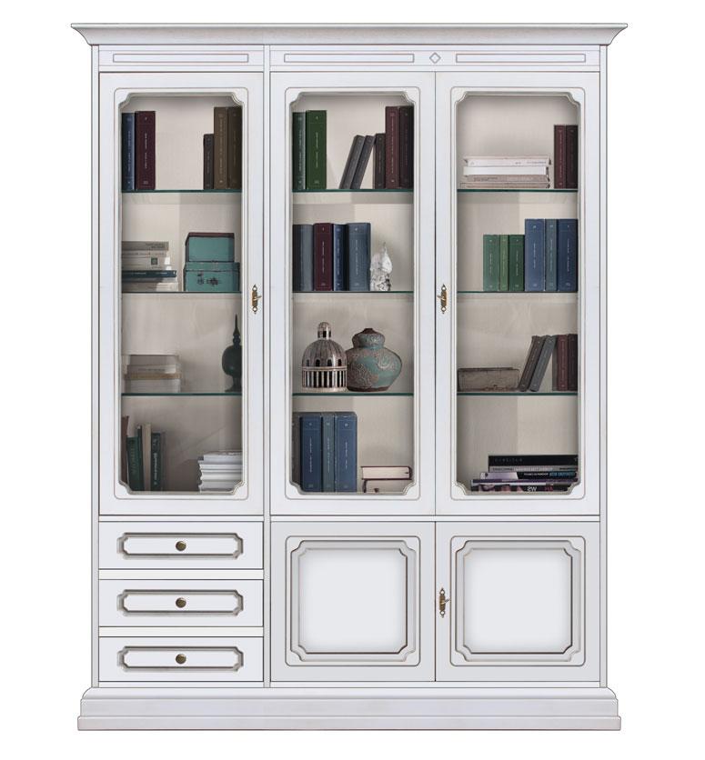 Libreria a parete mobile vetrina per soggiorno mobile for Salotto con libreria