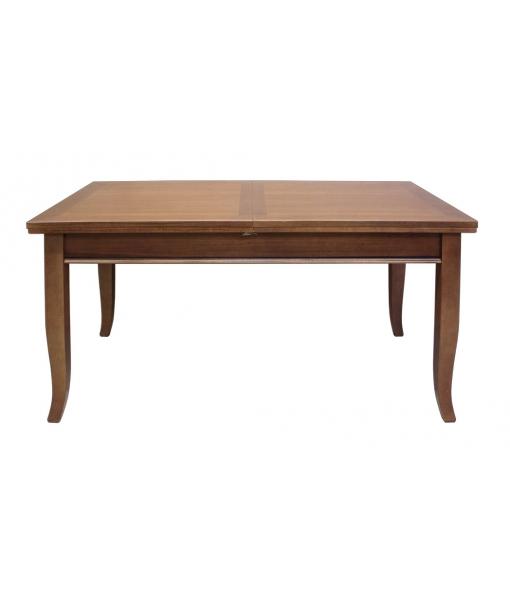 Tavolo da pranzo rettangolare in legno massello, allungabile, sala da pranzo  eBay