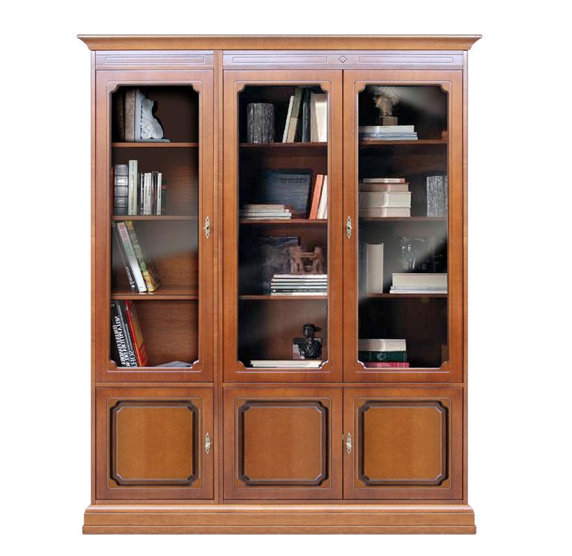 Libreria parete, mobile vetrina in legno laccato, mobile da salotto ...