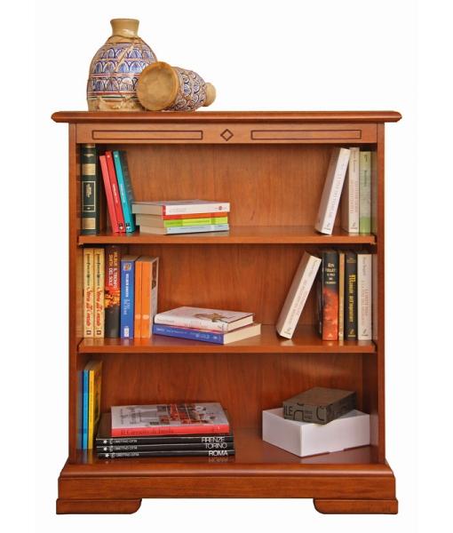 Libreria bassa ripiani regolabili in legno, Art. 220