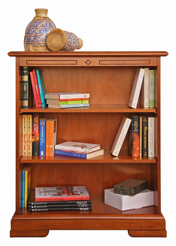libreria bassa ripiani regolabili in legno arteferretto