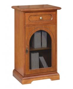 porta telefono classico in legno con anta vetro