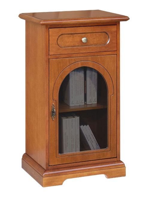 Mobile in legno con vetrina, mobiletto porta telefono, mobiletto per ...