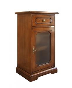 mobiletto classico porta telefono, mobiletto in legno, mobile per ingresso, mobiletto per corridoio, tavolino, mobiletto classico, mobile con antina in vetro, piccola vetrinetta