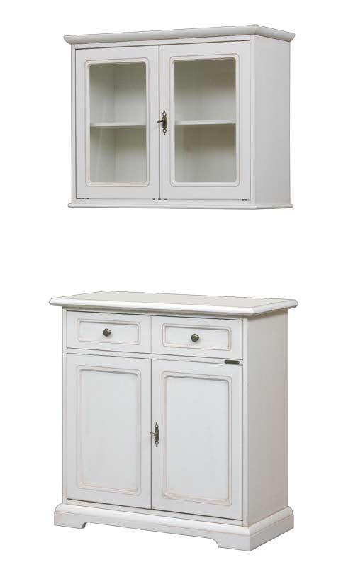 Credenza e vetrina pensile abbinata arteferretto - Larghezza mobili cucina ...