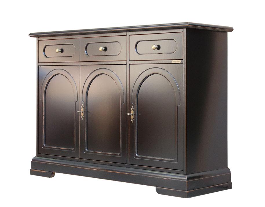 Credenza Per Soggiorno : Credenza elegante per soggiorno mobile legno ciliegio laccato