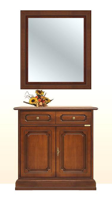 Credenza con specchio in legno massello arteferretto - Specchio antichizzato ...