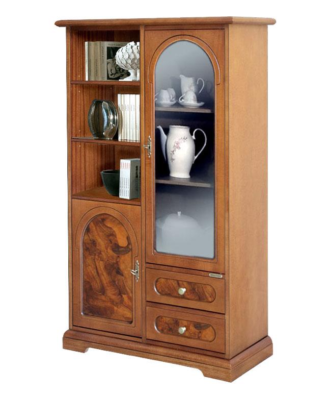 mobile vetrinetta in legno e radica, mobile soggiorno, mobile ... - Vetrina Soggiorno Usata 2
