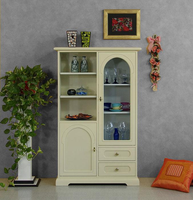 Vetrina dispensa in legno mobile cucina multiuso vetrinetta classica laccata ebay - Mobile cucina dispensa ...
