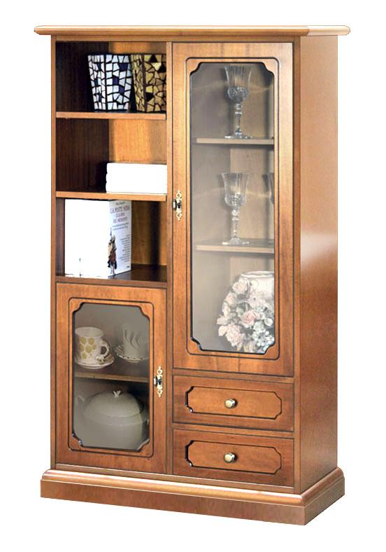 Mobile vetrina elegante, mobile in legno cassetti e vetrinette ...