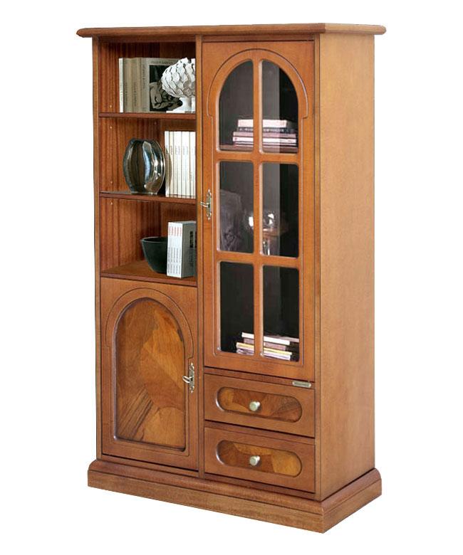 Mobile Vetrina legno e radica, vetrina classica, prodotto ...