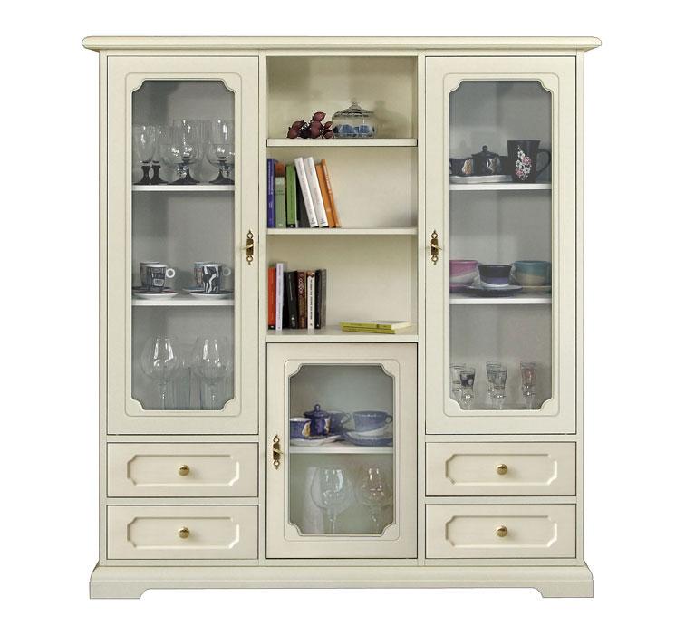 Mobile vetrina classica, vetrinetta elegante, mobile laccato, soggiorno, cucina  eBay