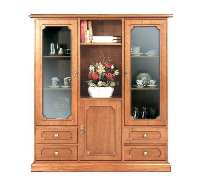 Mobile vetrina classico, credenza cristalliera per soggiorno, mobile ...