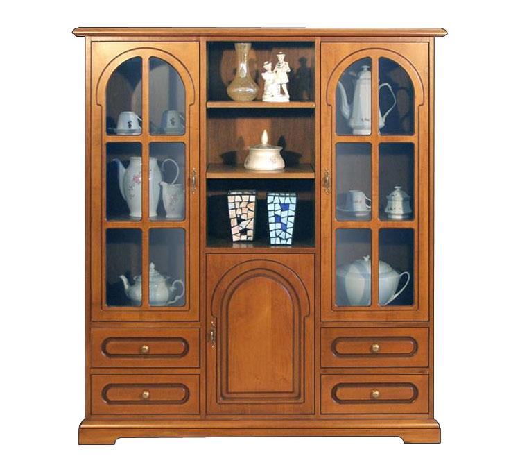 Vetrina argenteria cristalliera mobile in legno vetrina for Vetrina soggiorno