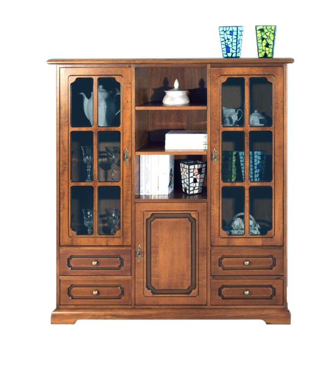 Vetrinetta classica in legno mobile vetrina soggiorno for Mobile soggiorno legno