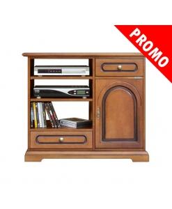 porta tv in legno con 2 cassetti e 1 porta
