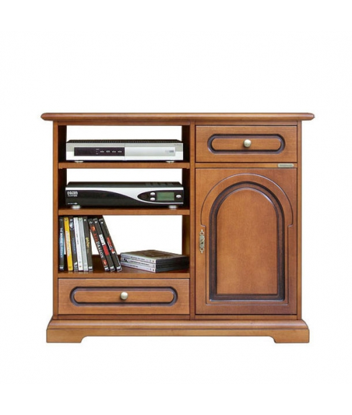 porta tv in legno con 2 cassetti e 1 porta, Art. 3051-C