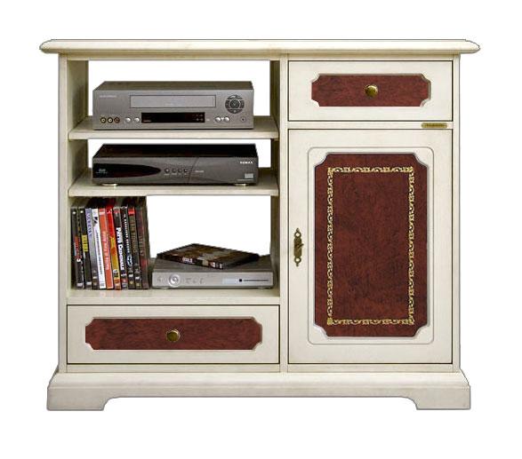 Mobile porta tv alto classico in legno e vera pelle mobile tv 1 ...