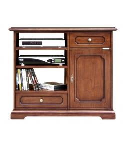 Porta tv alto per cucina in legno