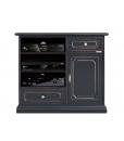 Mobile porta TV alto colore nero con 2 cassetti e una porta