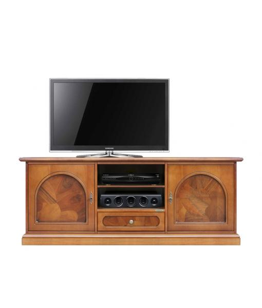 Mobile porta TV classico da salotto / sala da pranzo con inserti in radica, Art. 3059-ABZ
