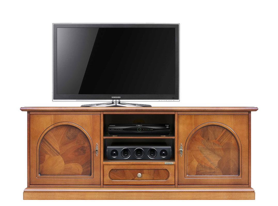 Mobile tv classico orizzontale con radica - ArteFerretto