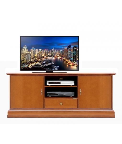 Mobile porta tv basso liscio per soggiorno o salotto, Art. 3059-AP