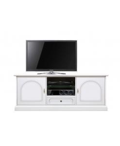 Porta TV basso da salotto, colore bianco