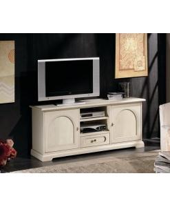 porta tv basso, porta tv, mobile per tv, mobile per soggiorno, arredo casa, mobile in legno, mobile bianco