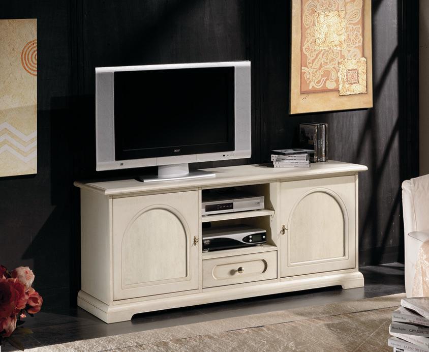 Mobile porta tv in stile classico, mobiletto legno laccato, mobile ...