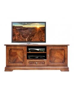 mobile porta tv con radica 150 cm, 2 porte e 1 cassetto