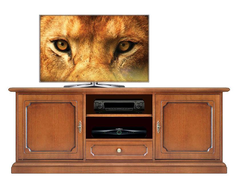 Mobile porta tv colore ciliegio o noce arredamento - Colore parete cucina noce ...