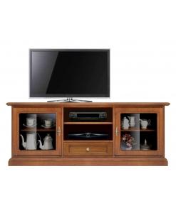 mobile porta tv basso, porta tv basso, porta tv per soggiorno, mobile in legno, mobile tv in legno