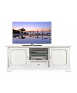 porta tv, mobile tv, mobile classico, Mobile porta tv 150 cm laccato 2 porte ed 1 cassetto
